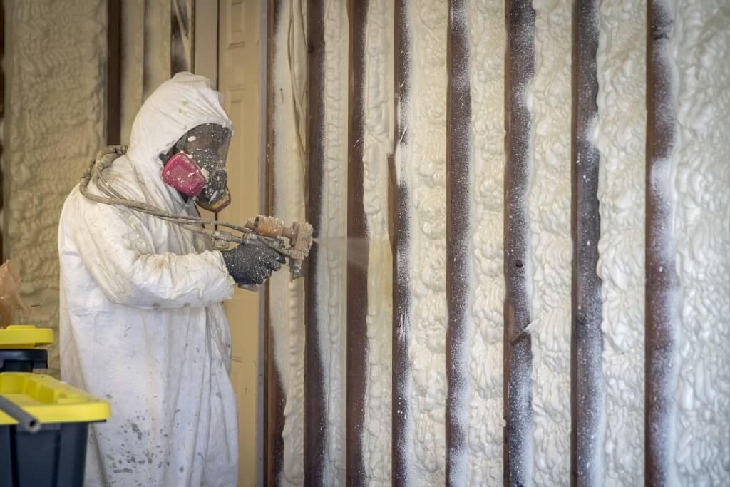 spray foam insulation contractors at work